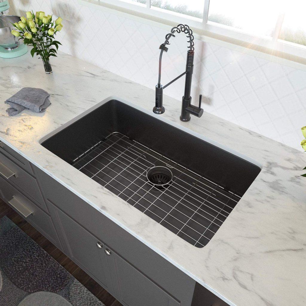 Lordear 30 Inch Black Undermount Kitchen Sink