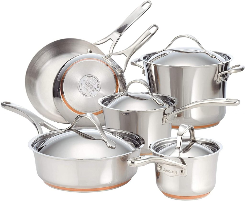 Anolon Nouvelle Stainless Steel induction Cookware