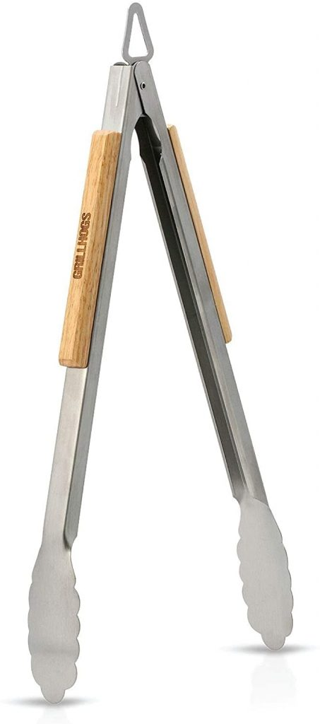 GRILLHOGS 16-Inch Barbecue Grill Tongs