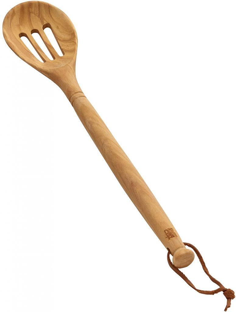 Sabatier Olivewood Slotted Spoon