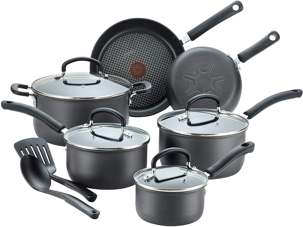 Best Stain-Resistant Ceramic Cookware Set: T-Fal Ultimate Hard-Anodized Nonstick Cookware Set